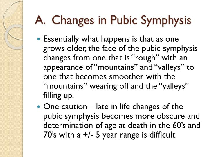A.  Changes in Pubic