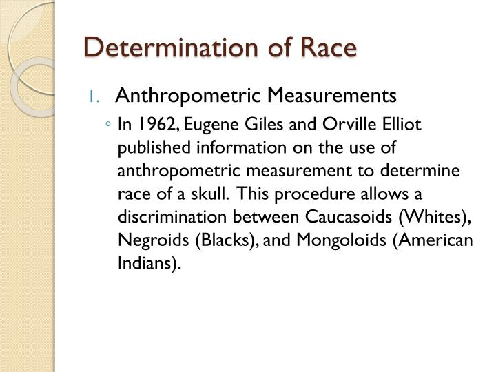 Determination of Race