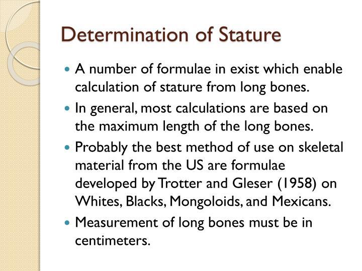 Determination of Stature