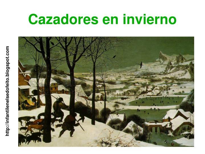 Cazadores en invierno