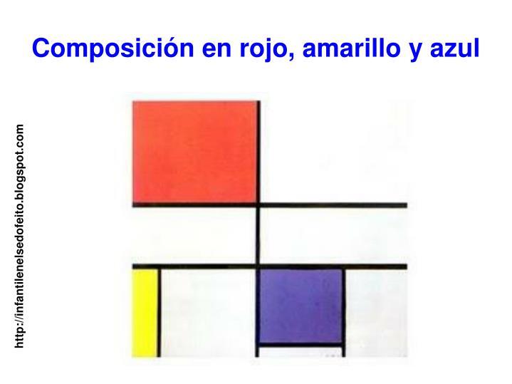 Composición en rojo, amarillo y azul