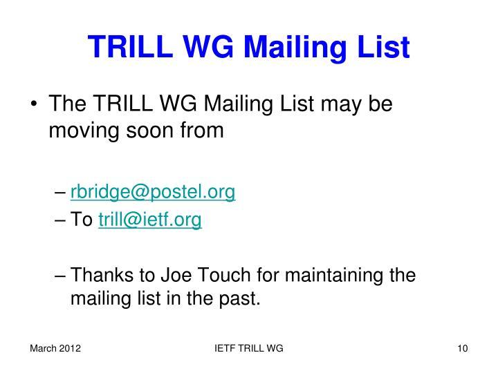 TRILL WG