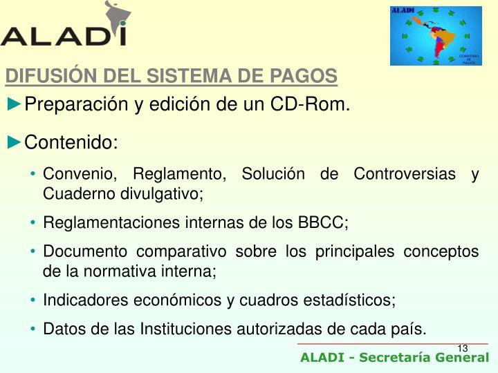 DIFUSIÓN DEL SISTEMA DE PAGOS