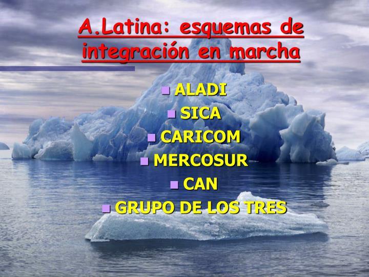 A.Latina: esquemas de integración en marcha