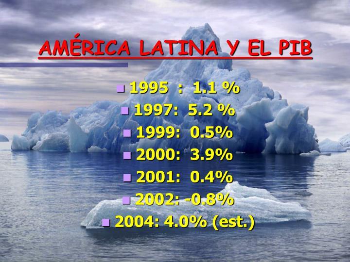 AMÉRICA LATINA Y EL PIB