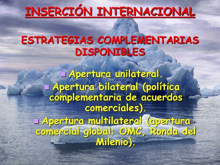 INSERCIÓN INTERNACIONAL