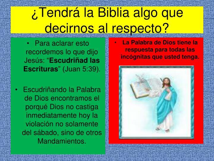 ¿Tendrá la Biblia algo que decirnos al respecto?