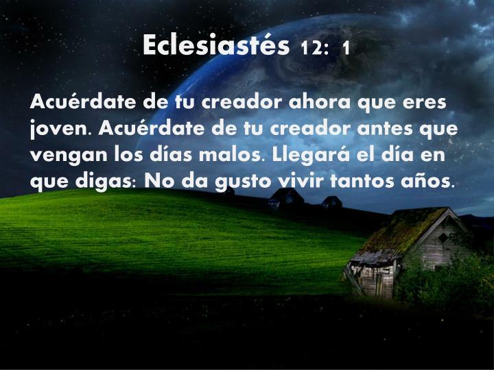 Eclesiastés 12: 1