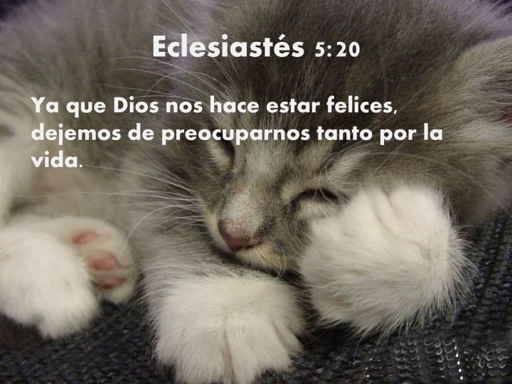 Eclesiastés 5:20