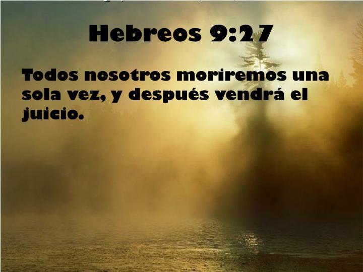 Hebreos 9:27