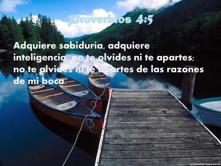 Proverbios 4:5