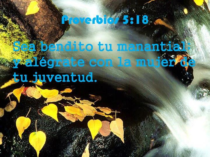 Proverbios 5:18