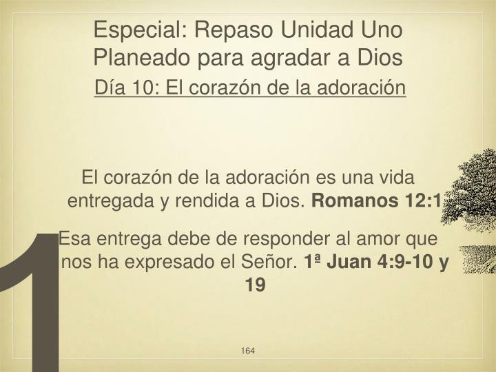 Especial: Repaso Unidad Uno