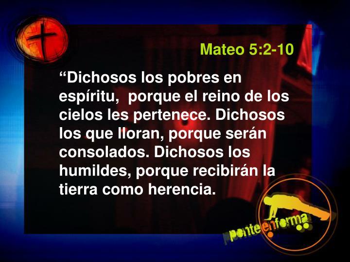 Mateo 5:2-10