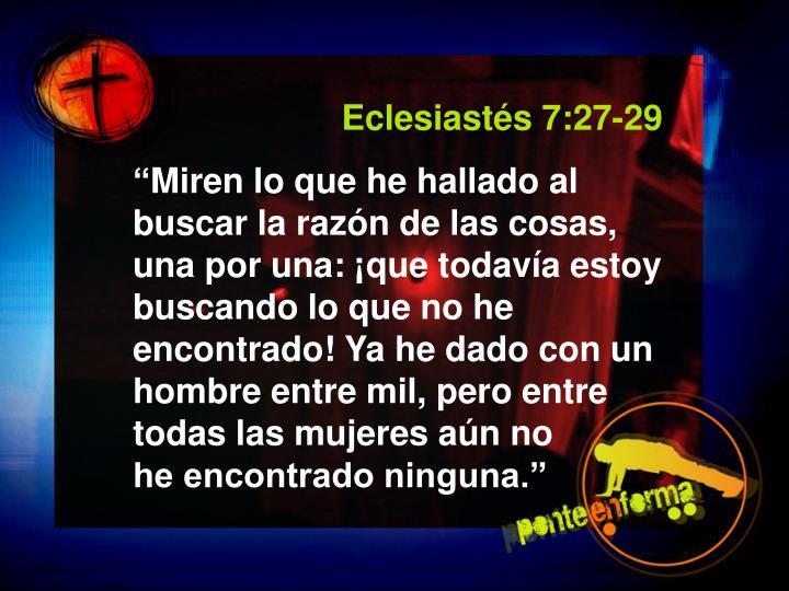 Eclesiastés 7:27-29