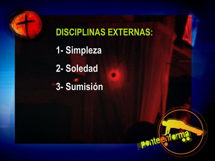DISCIPLINAS EXTERNAS:
