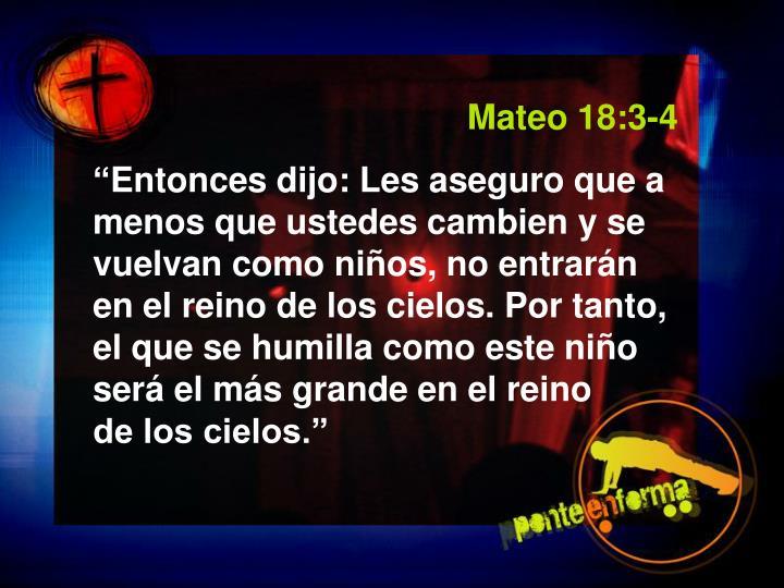 Mateo 18:3-4
