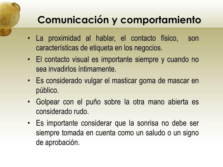 Comunicación y comportamiento