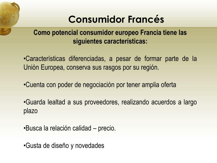 Consumidor Francés