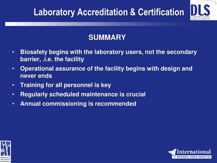 Laboratory Accreditation & Certification