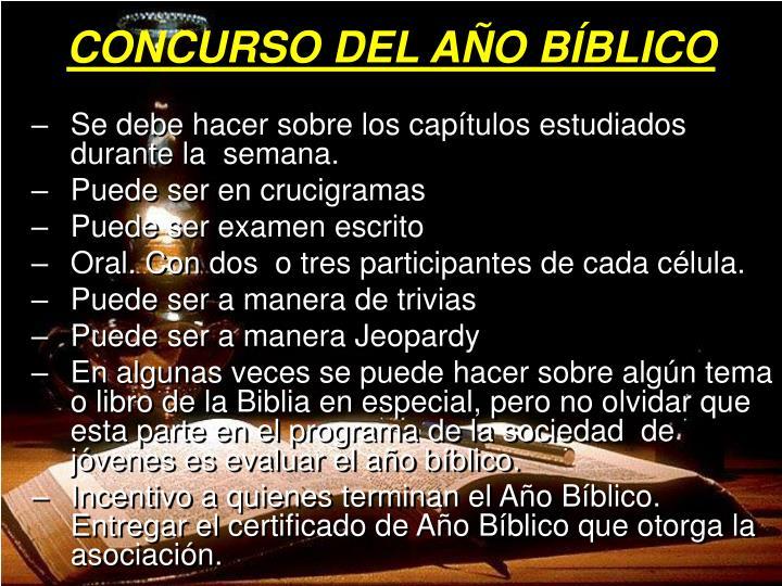 CONCURSO DEL AÑO BÍBLICO