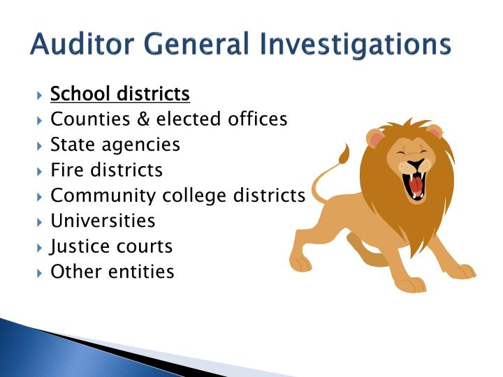 Auditor General Investigations