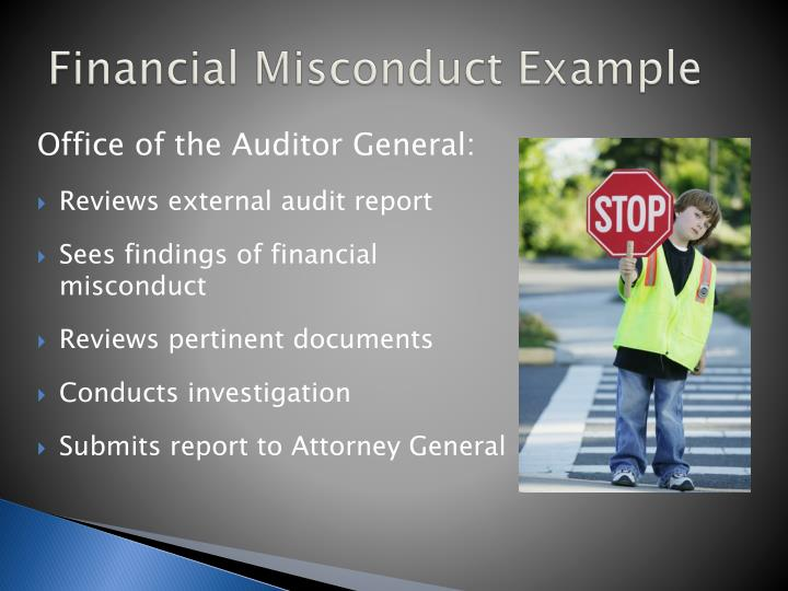 Financial Misconduct Example