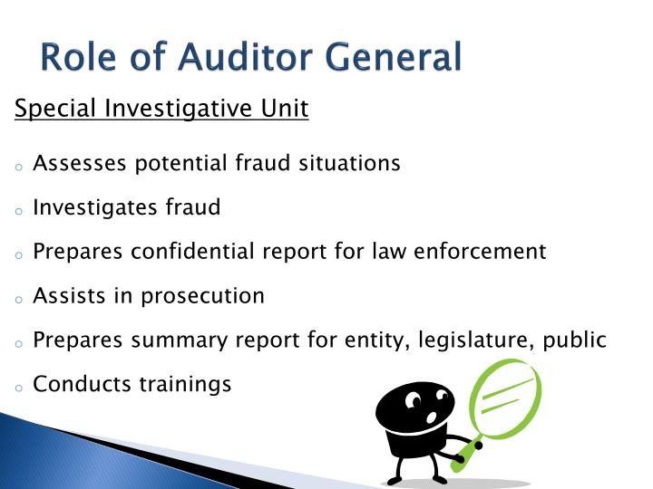 Role of Auditor General