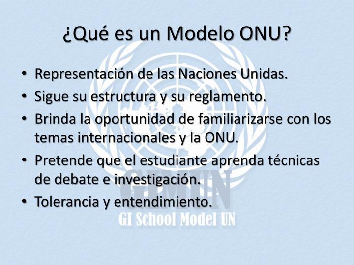 ¿Qué es un Modelo ONU?