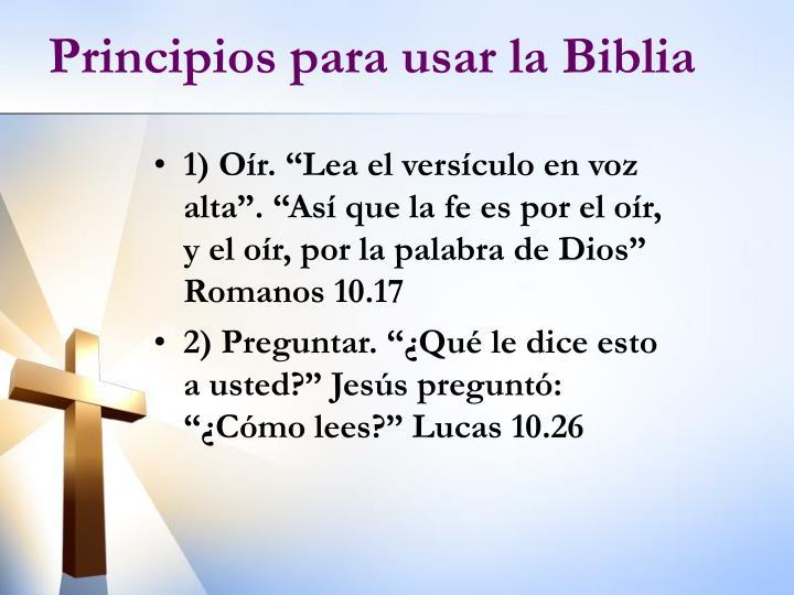 Principios para usar la Biblia