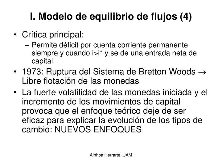 I. Modelo de equilibrio de flujos (4)