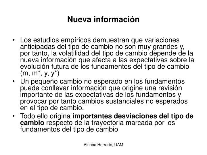 Nueva información