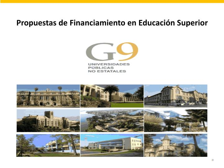 Propuestas de financiamiento en educaci n superior
