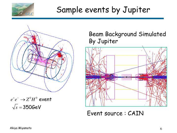 Sample events by Jupiter