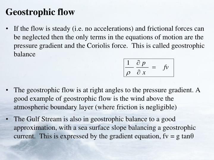Geostrophic flow
