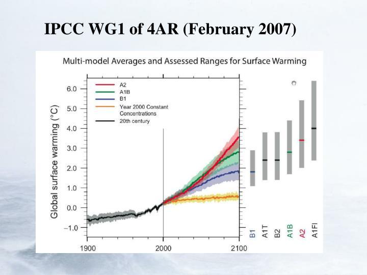IPCC WG1 of 4AR (February 2007)