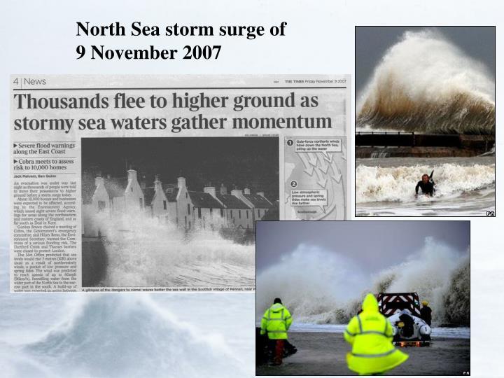 North Sea storm surge of 9 November 2007