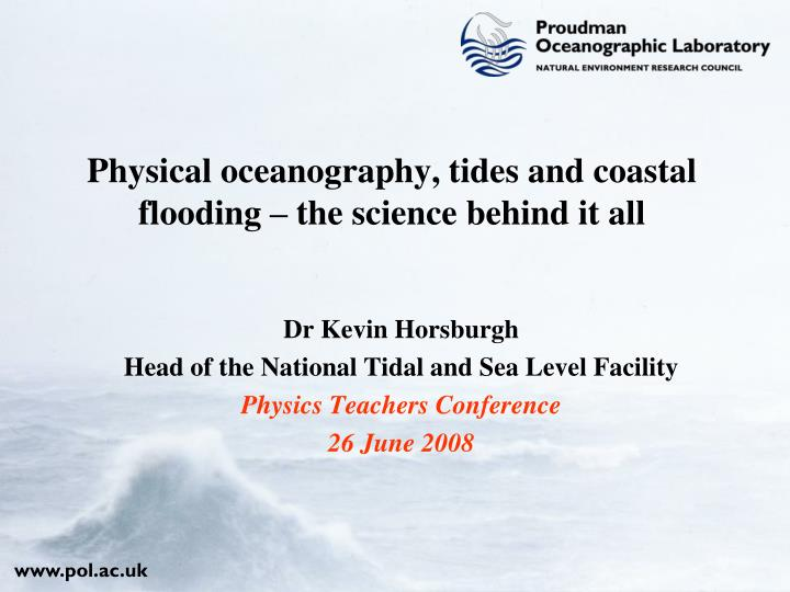 Physical oceanography tides and coastal flooding the science behind it all