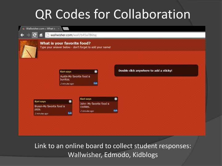 QR Codes for Collaboration