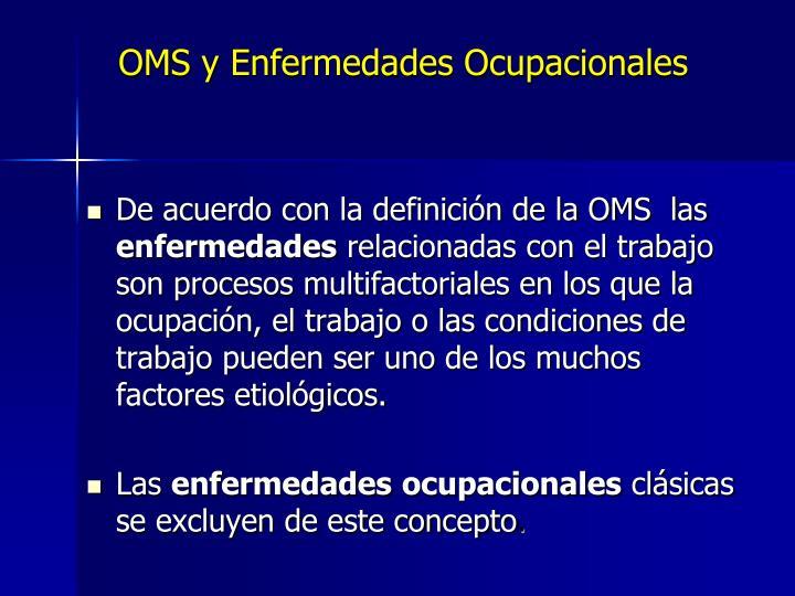 OMS y Enfermedades Ocupacionales