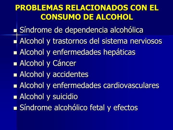 PROBLEMAS RELACIONADOS CON EL CONSUMO DE ALCOHOL