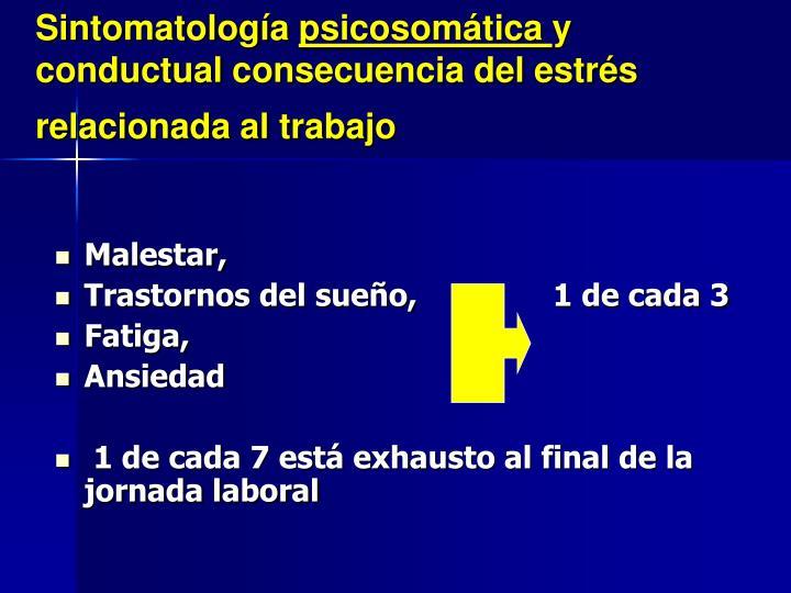 Sintomatología