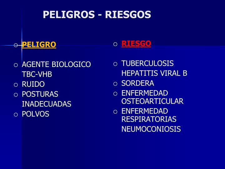 PELIGROS - RIESGOS