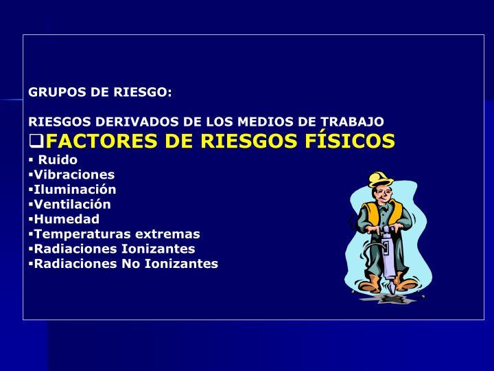 GRUPOS DE RIESGO: