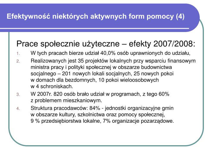 Efektywność niektórych aktywnych form pomocy (4)