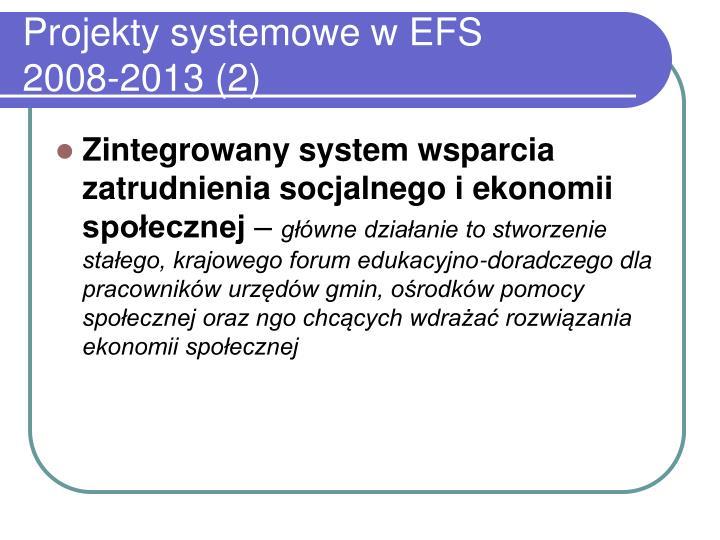 Projekty systemowe w EFS