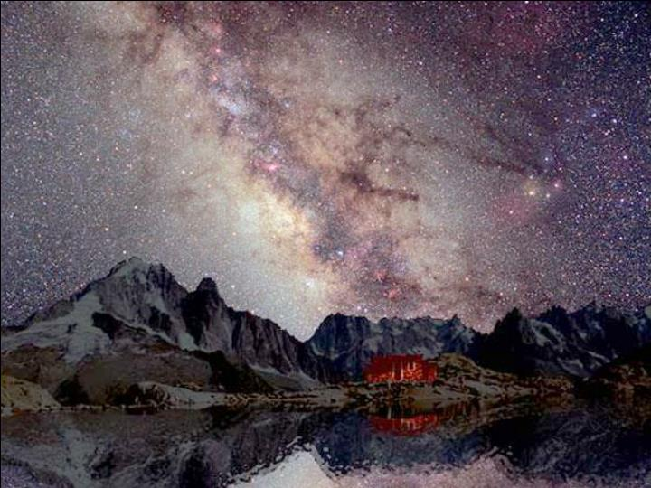 Sagittarius MW above Mt. Blanc
