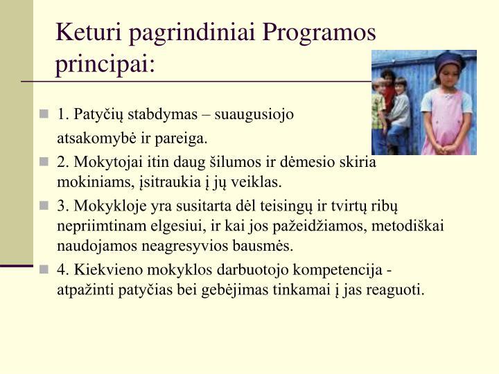 Keturi pagrindiniai Programos principai: