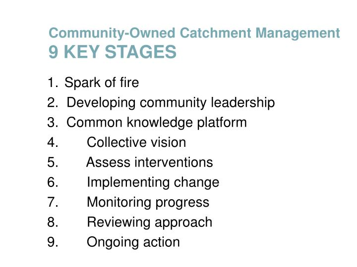 Community-Owned Catchment Management