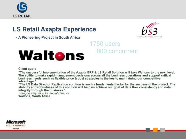 LS Retail Axapta Experience